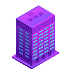 smart building icon isometric style vector image