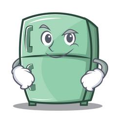 Smirking cute refrigerator character cartoon vector