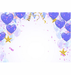 Star balloon and balloon on background party vector