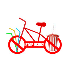 stop using prohibition use disposable vector image