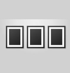 three realistic mofern interior black blank vector image