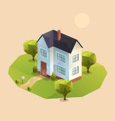 two-storey family house vector image