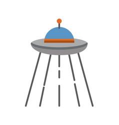 ufo flying isolated icon vector image