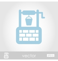 Water well icon vector