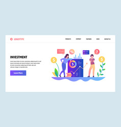 web site design template money investment vector image