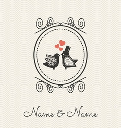 wedding cards2 vector image