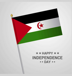Western sahara independence day typographic vector