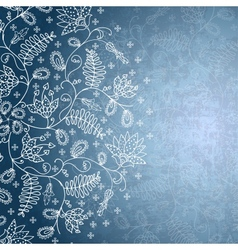 winter background with snowflake flower vector image