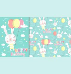 X0002 hand drawn happy birthday greeting card vector