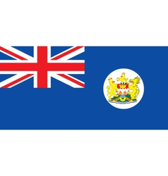 Pre-1997 Hong Kong Flag vector image vector image