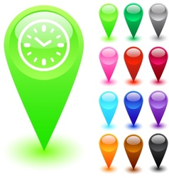 Time button vector image vector image