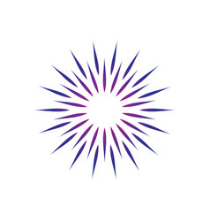 circle sun ornament logo vector image