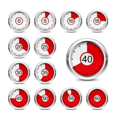 Icons timer vector image