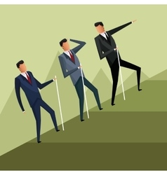 business men team climb growth vector image