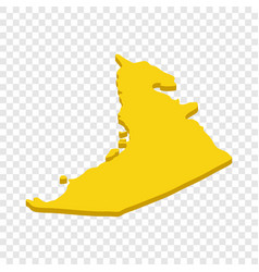 map uae isometric icon vector image