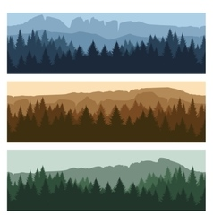 Outdoor mountain landscape banners vector