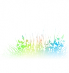 rainbow grass vector image vector image