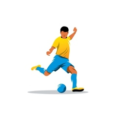 Soccer player sign vector image