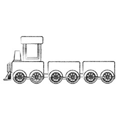 train toy isolated icon vector image