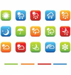 weather 4 colors vector image vector image