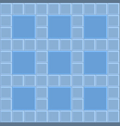 3d brick stone pavement texture background blue vector image