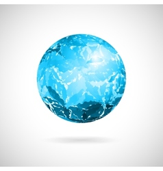 abstract ball of blue spots vector image