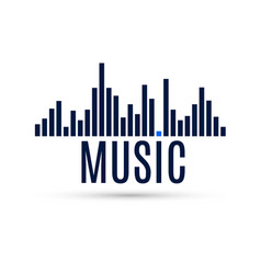 Abstract equalizer icon music sound wave for vector