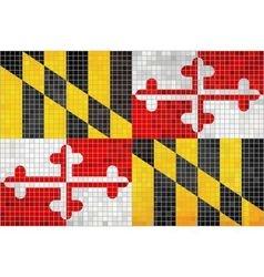 Abstract Mosaic flag of Maryland vector