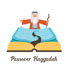 Abstract passover story haggadah book mozes vector