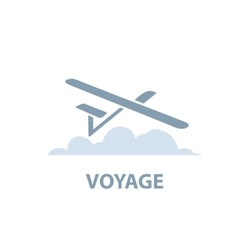 air travel logo vector image