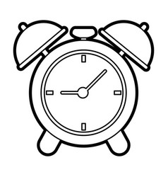 Analog alarm clock icon image vector