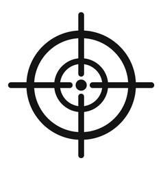 Arch target icon simple style vector