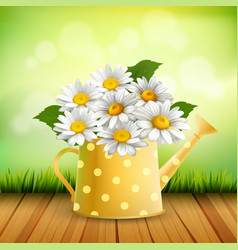Armful of daisy realistic composition vector