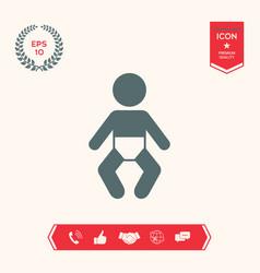 baby symbol icon vector image