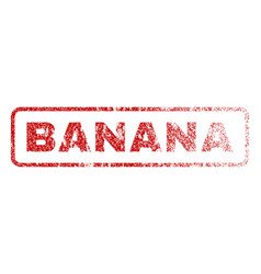 Banana rubber stamp vector