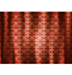 Beautiful pattern curtains abstract background vector image