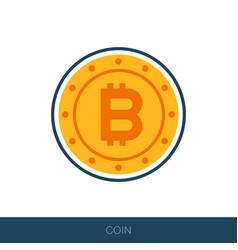 Bitcoin icon in flat design vector