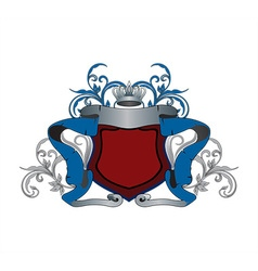 Blue and Red Heraldry Design vector