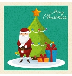 Card merry christmas and new year design isolated vector