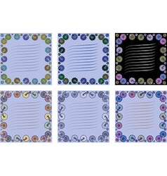 Card with flower card with flowers to write text vector