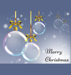 christmas background with realistic balls xmas vector image