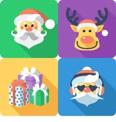 Christmas set icon flat design vector