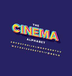 Cinema font vector