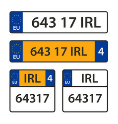 collection of car number plates vector image