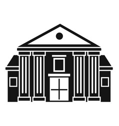 column courthouse icon simple style vector image