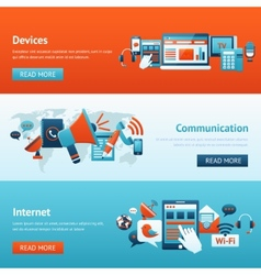 Communication Banner Set vector