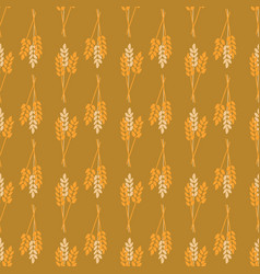 crop oat wheat barley rye plant seamless vector image