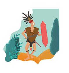 Dayak tribe indonesias heritage vector