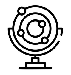 Electron motion model icon outline style vector