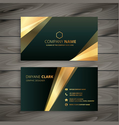 Elegant premium golden business card template vector